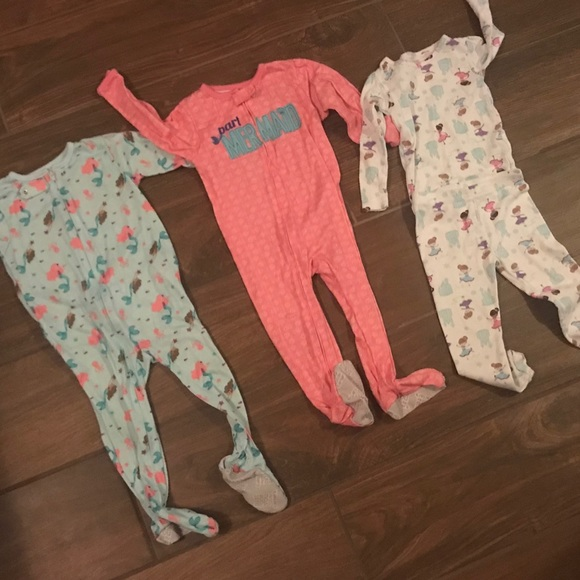 2f1c5ef599 Carter s Other - 3 pair girls pajamas 🧜 ♀ mermaid ...